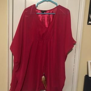 pink blouse from Rampage
